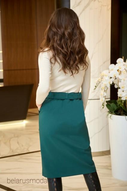 Костюм с юбкой 911 зеленый Анастасия Мак