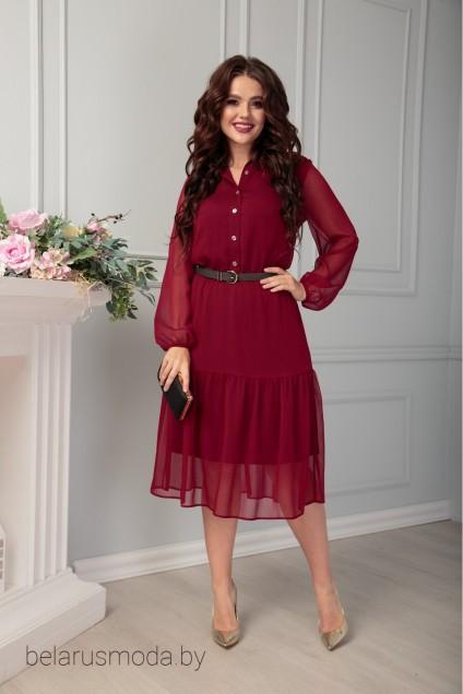 Платье 488 бордо Anastasia