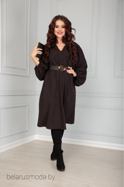 Платье+ремень 517 черный-2 Anastasia