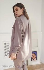 Рубашка 4006 коричневый BegiModa