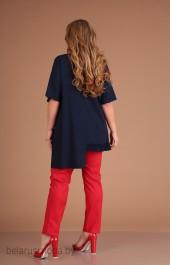 Костюм брючный Danaida, модель 1845 синий+красный
