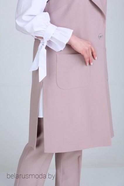 Костюм брючный 607 бежево-розовый Djerza