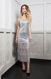 Платье 1743 серебро ELLETTO LIFE