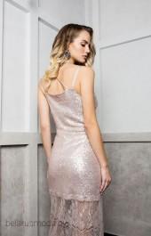 Платье ELLETTO LIFE, модель 1743 пудровый