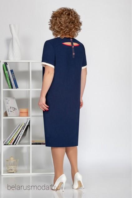 Платье 1680 синий Ивелта Плюс