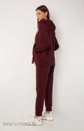 Спортивный костюм 4015-4040 бордовый Kivviwear