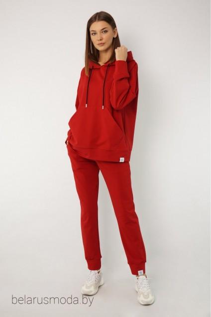 Спортивный костюм 4015-4040 красный Kivviwear