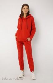 Спортивный костюм 4015-4040 морковно-красный Kivviwear