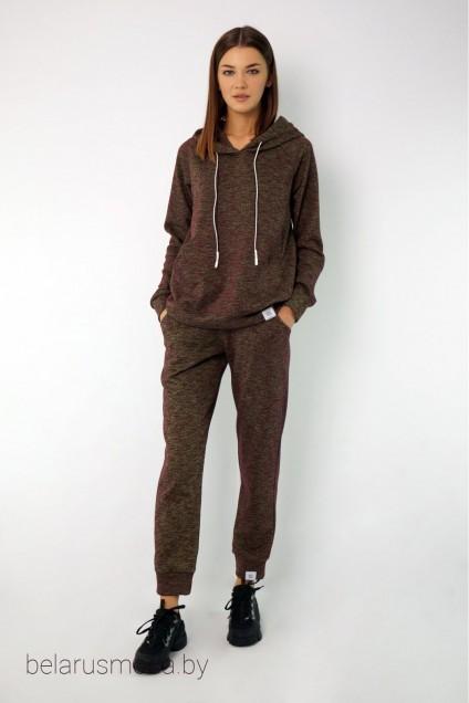 Спортивный костюм 4046-4050 бордово-салатовый меланж Kivviwear