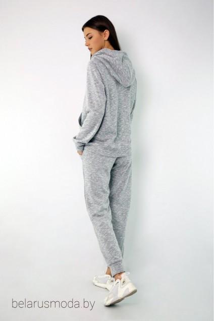 Спортивный костюм 4046-4050 светло-серый меланж Kivviwear