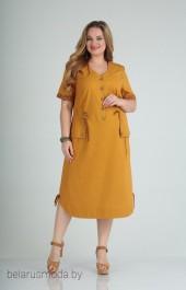 Платье Ксения стиль, модель 1776 оранжевый