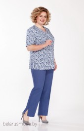 Костюм брючный LaKona, модель 1299 синий джинс