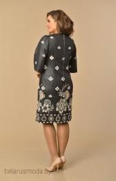 Платье Lady Style Classic, модель 1030 черный+бежевый