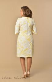 Платье Lady Style Classic, модель 1030 желтые тона