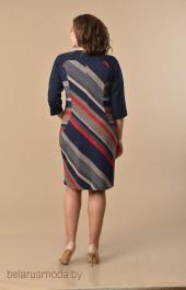 Платье Lady Style Classic, модель 1160 темно-синий+красный