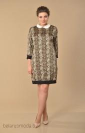 Платье Lady Style Classic, модель 1553 коричневые тона