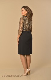 Платье Lady Style Classic, модель 1742 черный+леопард
