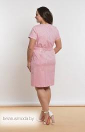 Платье Lady Style Classic, модель 1819 красно-белая полоска