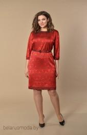 Платье Lady Style Classic, модель 927 красные тона
