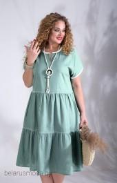 Платье Liliana-style, модель 834 серо-зеленый