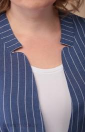 Костюм брючный Linia-L, модель 1811 синяя полоска