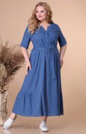 Платье 1728 синий + горох Linia-L