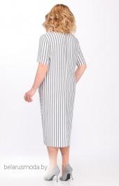 Платье 3.1294 белый+серая полоска MATINI