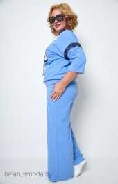 Костюм брючный 1250 голубой Michel Chic