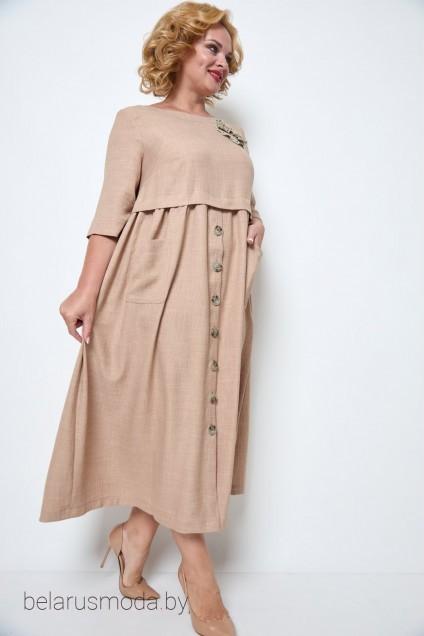 Платье 2062 бежевый Michel Chic