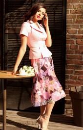Костюм юбочный Мода-Юрс, модель 2103 розовый