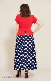 Костюм с юбкой 563 красный+ +синий Мублиз