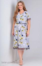 Платье OLLSY, модель 1517 серо-голубой