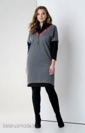Платье Olegran, модель 627 серый