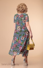 Платье Romanovich style, модель 1-1332 полоска+цветы