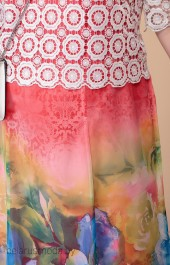 Платье Romanovich style, модель 1-1789 белый+розовый