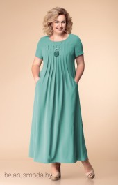 Платье 1-1826 темная мята Romanovich style