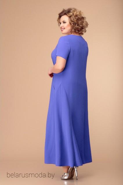 Платье 1-1826 насыщенный голубой Romanovich style