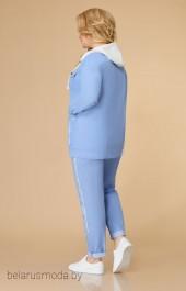 Костюм брючный 1569 голубой Svetlana Style