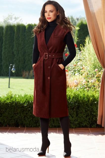 Платье 1523 бордовый TEFFI Style