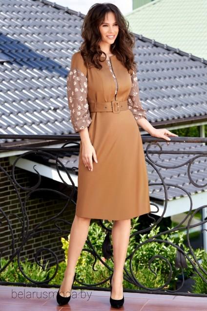 Платье 1582 золотой TEFFI Style