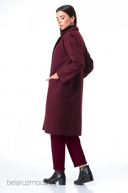 Костюм брючный+пальто 7085 бордо + бордо Tender and nice