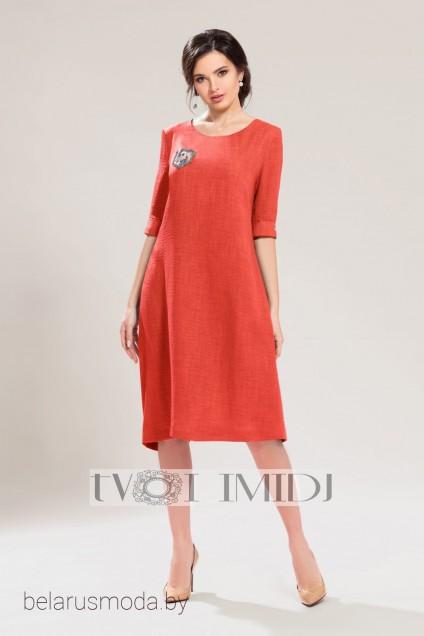 *Платье 1141 терракотовый Твой Имидж