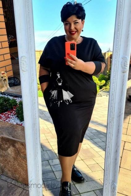 Платье 13003 черный Vittoria Queen