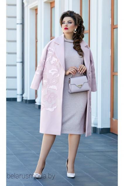 Пальто 14413 розовый Vittoria Queen