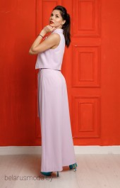 Костюм брючный 5406 + 5301 розовый YFS