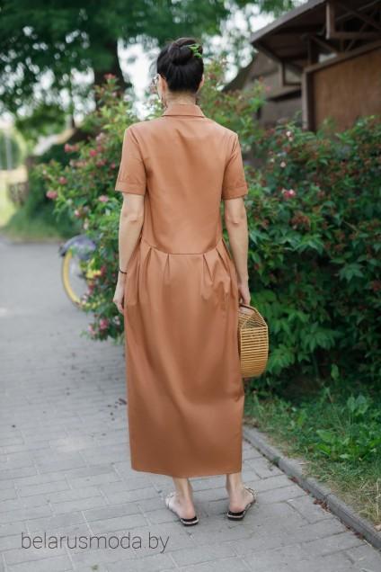 Платье 0809-21 коричневый YFS