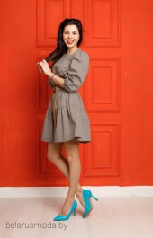 Платье+пояс 867 коричневый YFS